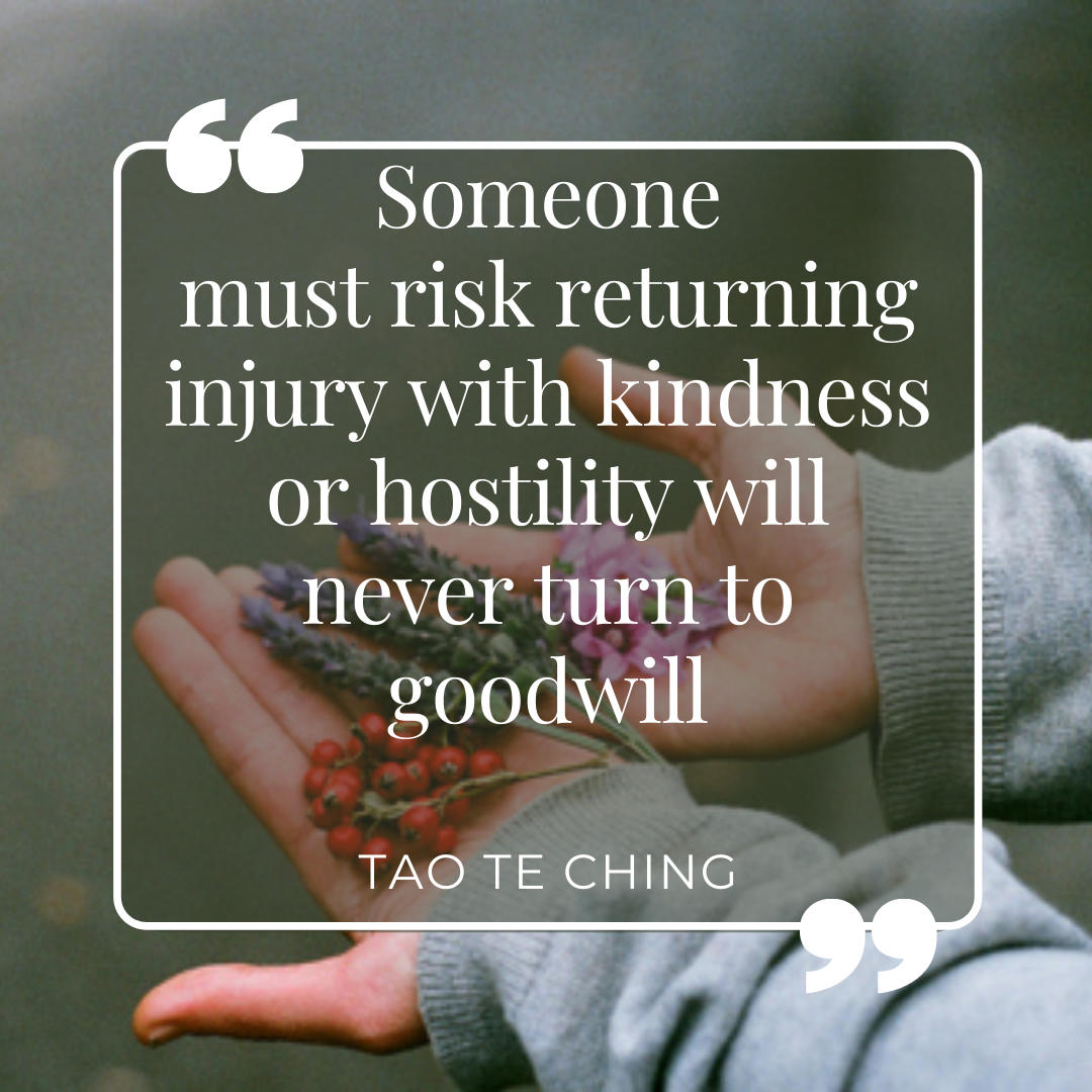 Return injury with kindness